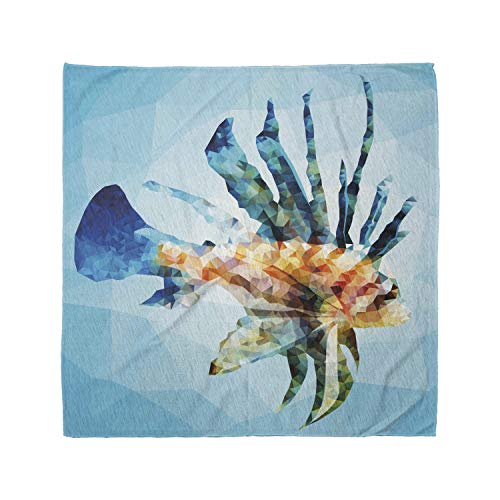 Ambesonne Unisex Bandana, Fish Ornamental Fish Style, Sky Blue