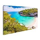 Cuadro en lienzo Mallorca Cala Llombards Playa de Santanyi en las Islas Baleares españolas Mallorca Cuadros Modernos Decoracion Impresión Salon