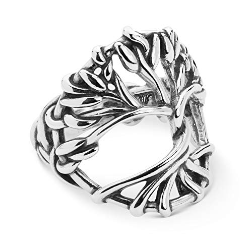 American West Sterling Silver Twisted Vine Tree of Life Ring Size 7
