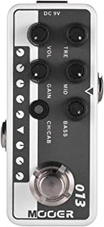 Muslady Mooer MICRO PREAMP Serie 013 MATCHBOX preamplificador digital de estilo americano clásico Pedal de efectos de guitarra Canales duales EQ de 3 bandas con True Bypass