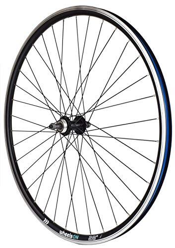 wheelsON QR 700c 28 inch Rear Wheel Quick Release 6/7 spd Shimano Freewheel Hybrid/Mountain Bike Black 36H (wheel only)