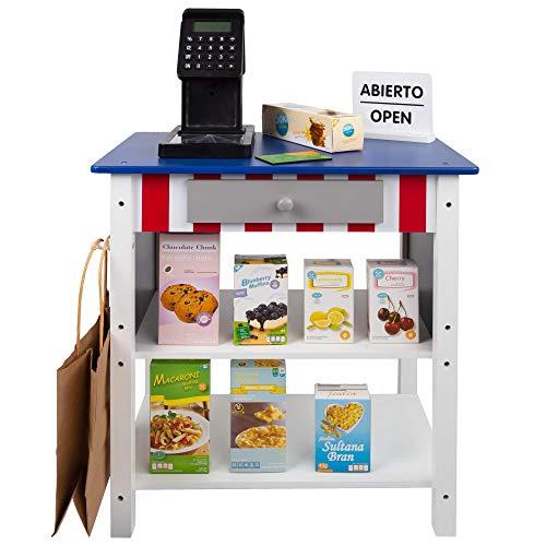 Woomax- Supermercado juguete madera con accesorios (Colorbaby 85385)