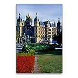 Premium Textil-Leinwand 60 x 90 cm Hoch-Format Schloss