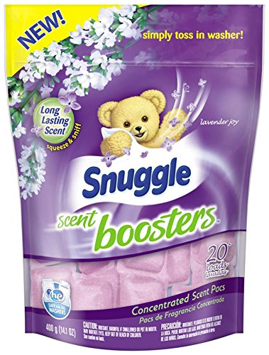 Snuggle Laundry Scent Boosters Concentrated Scent Pacs, Lavender Joy, Pouch, 20 Count