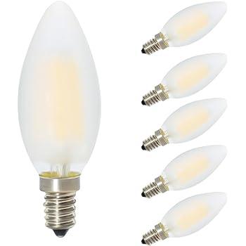 Pack of 12 60 Watt CFF Candelabra Base Frosted Flame Tip Shaped Incandescent Chandelier Light Bulb