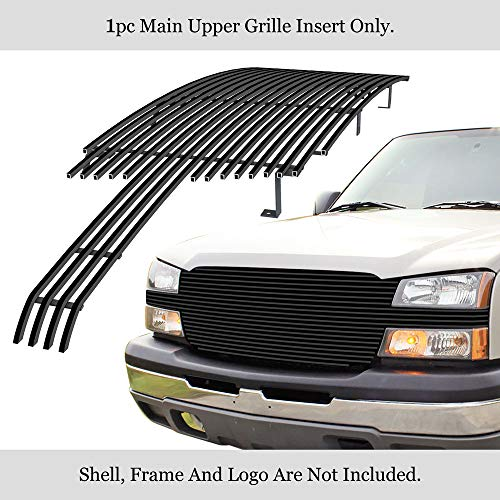 APS Compatible with 2003-2006 Chevy Avalanche 2003-2005 Silverado 1500 2003-2004 2500 Black Billet Grille Grill Insert C85026H