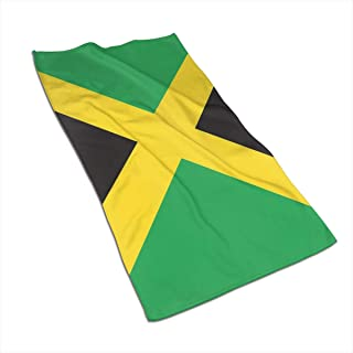 RZM YLY Jamaican Flag Bath Towels - Ultra Soft Exquisitely Plush Luxury Bathroom Towels 27.5 X 17.5in