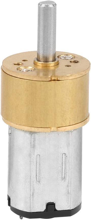 100 RPM Ccylez Motor de reducci/ón de Velocidad Micro DC 6V Motor de Engranaje a Prueba de Polvo N20 de 14MM con Caja de Engranajes de Metal Completo Motores el/éctricos RC para Robot DIY