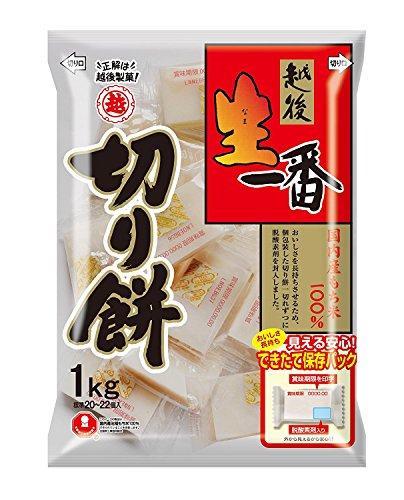 越後製菓 生一番 切り餅1Kg×5袋