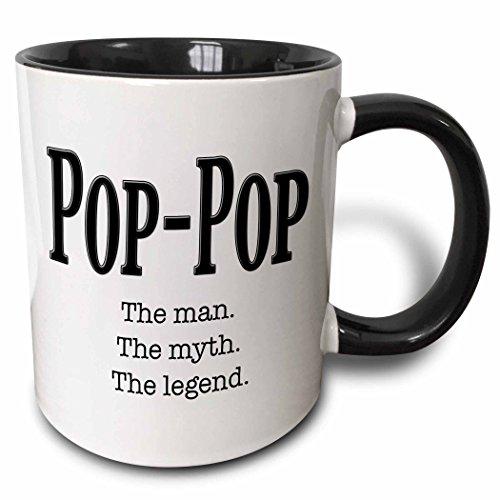 3dRose Saying Pop Ceramic Mug, 1 Count (Pack of 1), Black