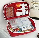 Medizintasche für Outdoor Reise Sport tragbar,reiseapotheke Tasche, Erste Hilfe Tasche tragbar - leer. (rot) - 3
