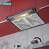 KKOLAR German Tech Elly 60 Chimney Stainless Steel Baffle Filters 60cm 720 m3/h - BLACK