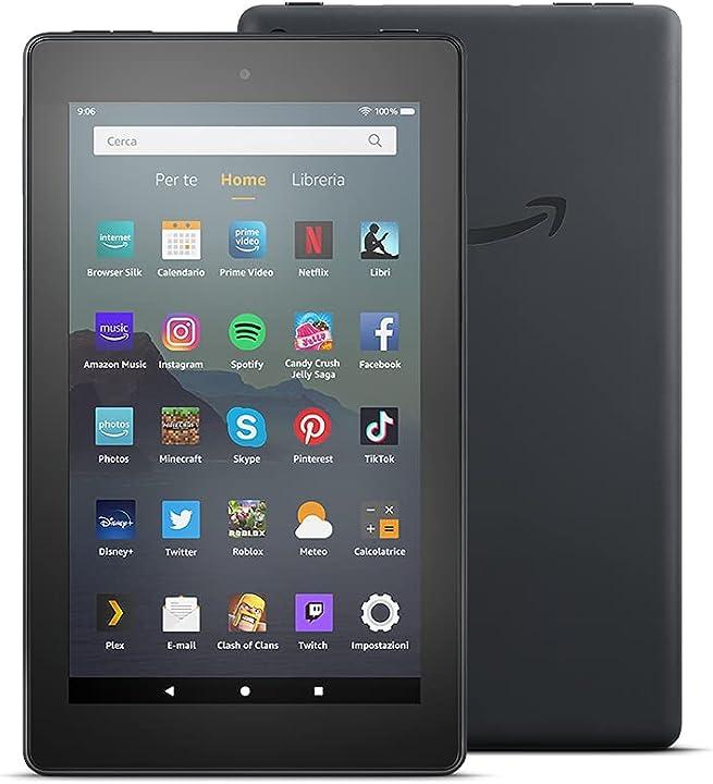 Tablet amazon fire 7, schermo da 7