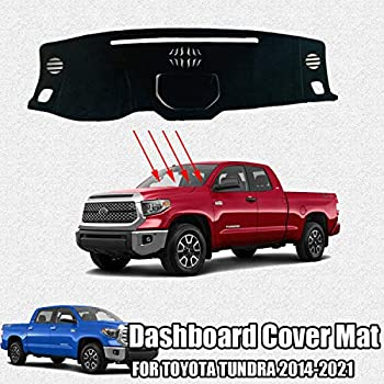Coverking Custom Fit Dashcovers for Select Toyota Tundra Models Poly Carpet Black