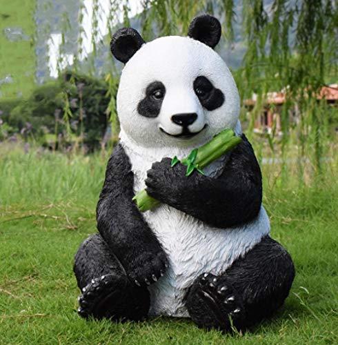 pah-macy Einfach tierfigur Gartendeko Skulptur Tierfigur Aus Wetterfestem Polyresin Dekofigur Gartendekoration Zum Bepflanzen Deko Garten Terrass Im Freien-Panda A.