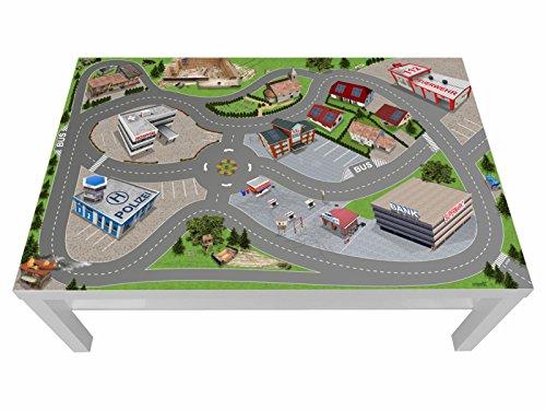 Stikkipix Stadt Möbelfolie | LCG05 | passgenau für den Lack Spieltisch von IKEA (Möbel Nicht inklusive)