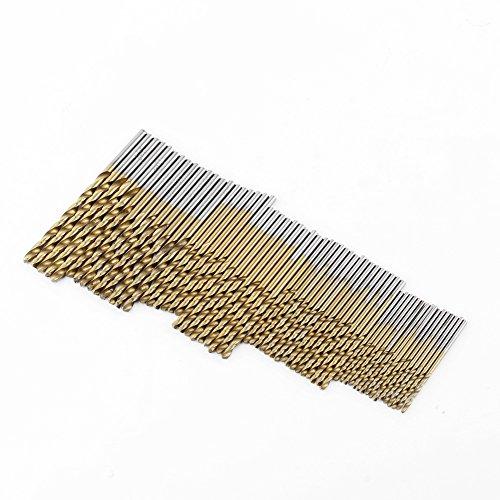 99PCS HSS Bits Set, Titanium Coated Metal High Speed Steel Drill Saw 1.5mm 2mm 2.5mm 3mm 3.2mm 3.5mm 4mm 4.5mm 5mm 5.5mm 6mm 6.5mm 8mm 10mm