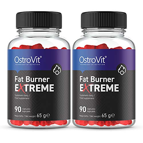 Ostrovit Fat Burner Extreme 180 Capsules | Thermogenic | Weight Loss | Slimming Pills | Fat Tissue Reduction | Energy & Endurance | Food Supplement