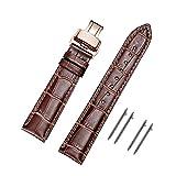 MUEN Cinturini di Ricambio Vera Pelle Cinturino Barre Rapido Rilascio Fibbia Distribuzione Nero Marrone 18mm 20mm 22mm 24mm per Uomo Donna