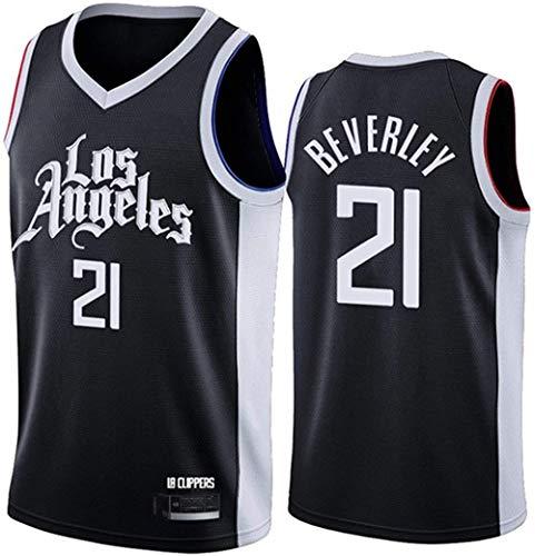 XSJY Jersey De Mujeres para Hombres - NBA Los Angeles Clipper 21# Patrick Beverley Jerseys Transpirable Baloncesto Baloncesto Swingman Jersey,D,XL:180~185cm/85~95kg