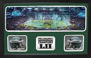 Double Mini Helmet Panoramic Shadowbox - Super Bowl LII World Champions Philadelphia Eagles