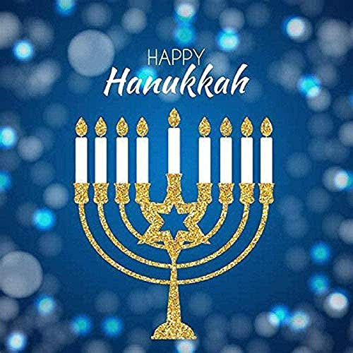 Cross Stitch Kits for Beginners Child-Happy Hanukkah-DIY Stamped Embroidery Needlework Needlepoint Cross Stitch-Christmas Art Home Decoration-16x20 inch (11CT Pre Printed Canvas)