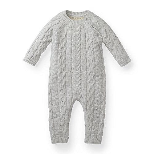 Hope amp Henry Layette Baby Cable Knit Sweater Romper