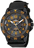Timex Men's TW4B05200 Expedition Gallatin Black/Orange Nylon Slip-Thru Strap Watch