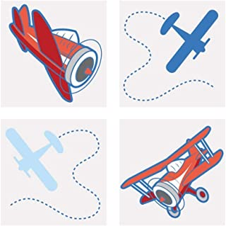 Fun Express 72 Up & Away Airplane Temporary Tattoos Party Favors Set