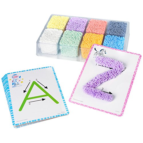 Educational Insights Playfoam Shape & Learn Alphabet Set, Flash Card Set, Preschoolers Learn to Write, Ages 3+