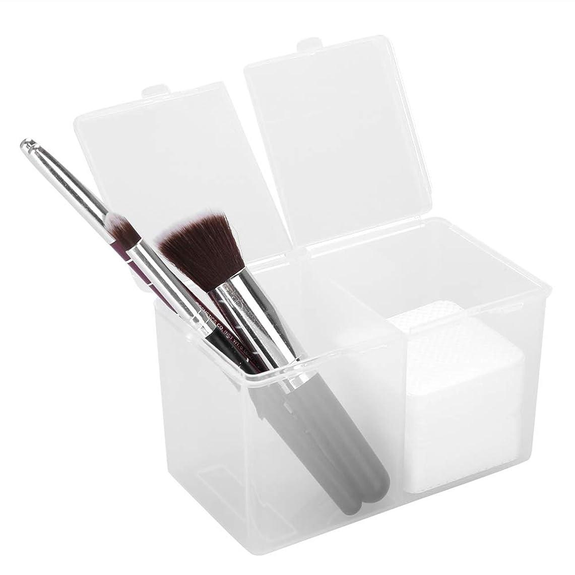 幻想的捨てるキャッチ綿パッドホルダー、2グリッド綿棒化粧容器ネイルポリッシュグリッターパウダーオーガナイザー収納ボックス用ガーゼコットンボールホームオフィス用品