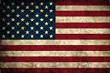 Schatzmix Länder Fahne - USA - National Flagge United States of America/Amerika blechschild, dekoschild, Retro