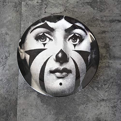 TFJJSQA Especial/Simple Queen's Ceramic Art Deco Tablero Addish Decoración de la pared del comedor Adornos 20.32 cm Queen's Art Deco Plate (Color: Queen's Art Deco Plate U, Tamaño: 8 pulgadas)