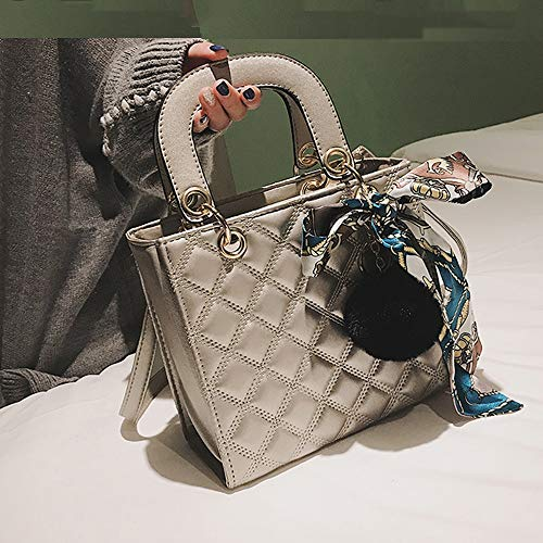 XF Hong Tai Yang Damenmode Stickerei Linie Schulter geschlungene Handtasche Kelly Bag Braut Tasche ** (Farbe : B, größe : 21X19X9cm)