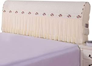 Headboard Cover Stretch All-Inclusive Tight Wrap Bed Head Cover Solid Color Bed Back Protector Cover for Single Double Que...