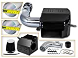 Cold Air Intake System with Heat Shield Kit + Filter Combo BLACK Compatible For 13-15 Scion FR-S/Subaru BR-Z L4 2.0L