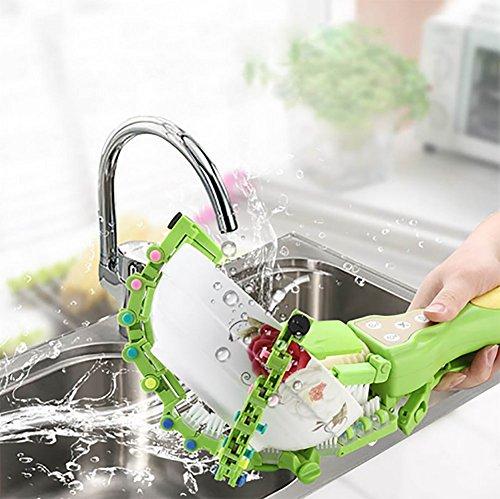 QJSZ Lavavajillas Inteligente Portátil De Mano Cocina Doméstica Artefacto Lavador Giratorio De Lavaplatos Mini-Tazón