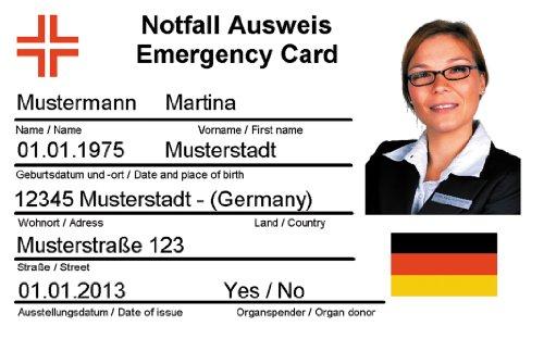 F.S.D. - Notfallausweis