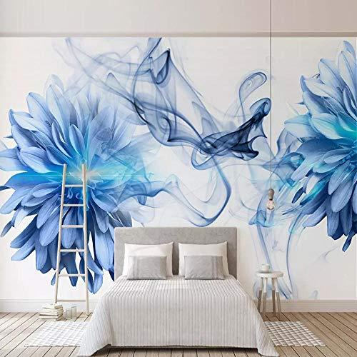 Benutzerdefinierte Wandbilder Tapete 3d abstrakte kunst blau smog foto wand malerei wohnzimmer tv sofa hintergrund wand dekor papel de parede