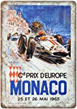 KODY HYDE Metall Poster - Monaco Prix D'Europe - Vintage