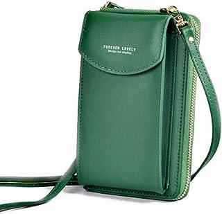 Ladies Long Clutch Bag Large Capacity Mobile Phone Bag Wallet Zipper Shoulder Messenger Bag