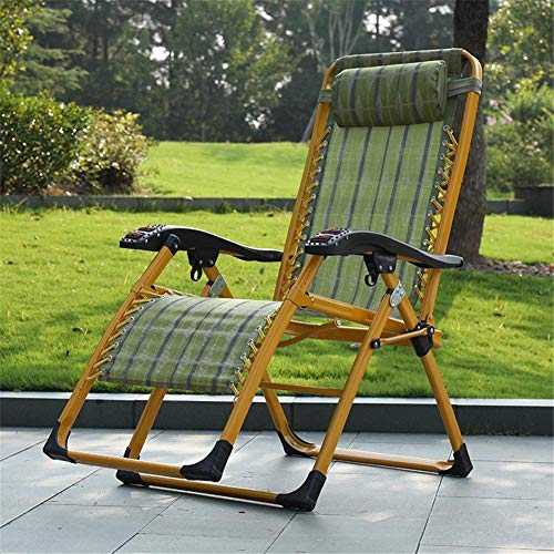 FMOGE Leisure Folding Deck Chair, Set of 2 Deck Chairs, Armrest with Removable Headrest and Spanner Lock Design, Strong Bearing Capacity