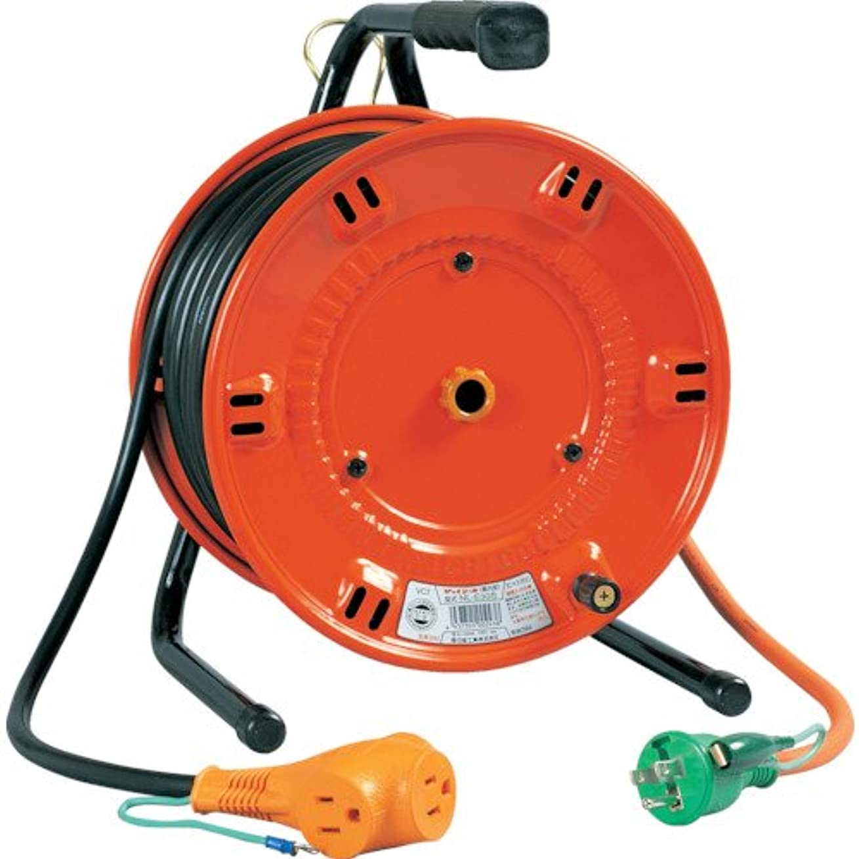 六月しないでください不十分な日動 電工ドラム びっくリール 100V アース付 30m NLE30S