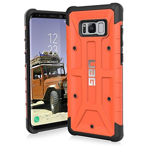 Urban Armor Gear Pathfinder Schutzhülle nach US-Militärstandard für das Samsung Galaxy S8+ (orange) [Verstärkte Ecken | Sturzfest | Antistatisch | Vergrößerte Tasten] - GLXS8PLS-A-RT