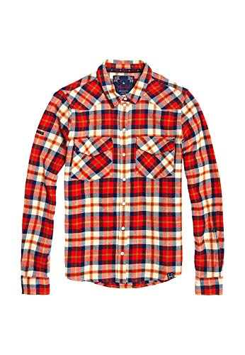Superdry Bailey Western Check - Camisa para Mujer, Color Rojo Rojo S