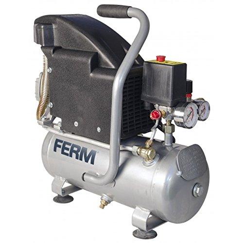 FERM CRM1044 compressor, 1,1 PS, 750 W, 8 l