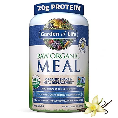 Garden of Life Meal Replacement Vanilla Powder, 28 Servings, Organic...