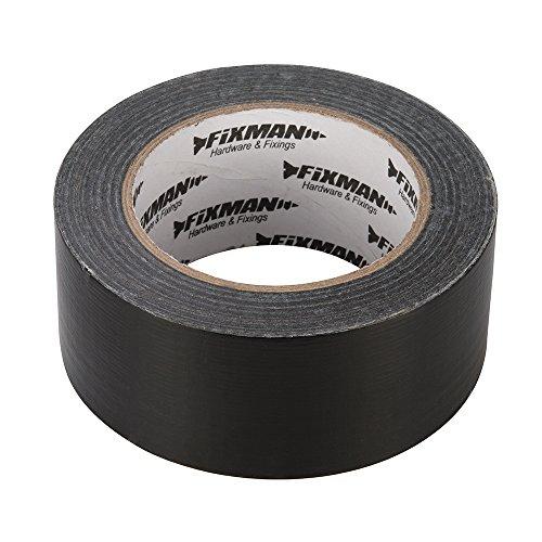 Fixman 188845 Heavy Duty Duct Tape, 50 mm x 50 m –Noir