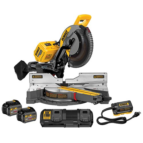 DEWALT FLEXVOLT 120V MAX Miter Saw Kit, 12-Inch, Double Bevel, Compound, Sliding (DHS790AT2)