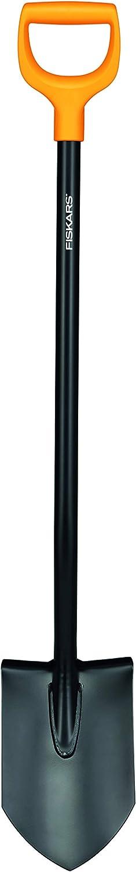 Fiskars Pala Puntiaguda para Suelos Duros, Longitud 117 cm, Acero/Plástico, Solid, 1003455, Negro